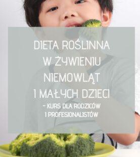 Dieta roślinna w żywieniu niemowląt i małych dzieci – kurs dla rodziców i profesjonalistów z możliwością konsultacji mailowe