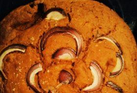Zapiekanka/chlebek ciecierzycowy w 5 minut