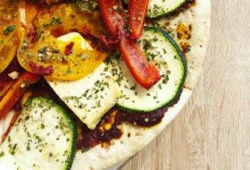 Szybka pizza roślinna